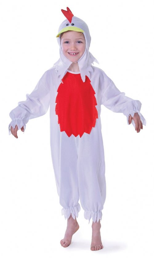 Childs Chicken Costume Rooster Chick Easter Farm Animal Fancy Dress Outfit
